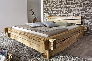 SAM Massiv-Holzbett 200x200 cm Johann mit Schubkästen, Bett aus ...