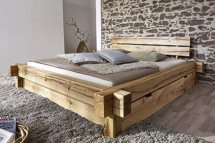 SAM® Madera cama Johann 160 x 200 cm con cajones cama de ...
