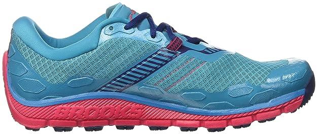 Brooks Damen PureGrit 5 Traillaufschuhe, Türkis (Peacock Blue/Virtual Pink/Patriot Blue), 38.5 EU
