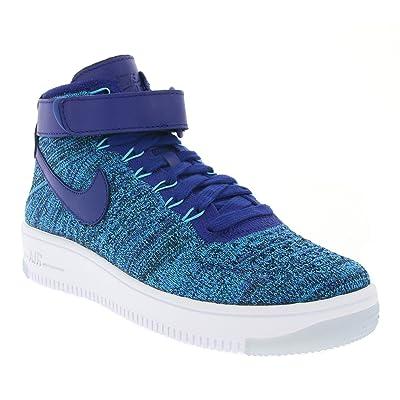 Nike W AF1 Flyknit, Chaussures de Sport Femme, Bleu-Azul (Blue Lagoon/Deep Royal Blue), 39 EU