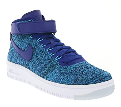 becd1e2413b8e Nike W Air Force 1 Flyknit Women s Sneaker Blue 818018 400