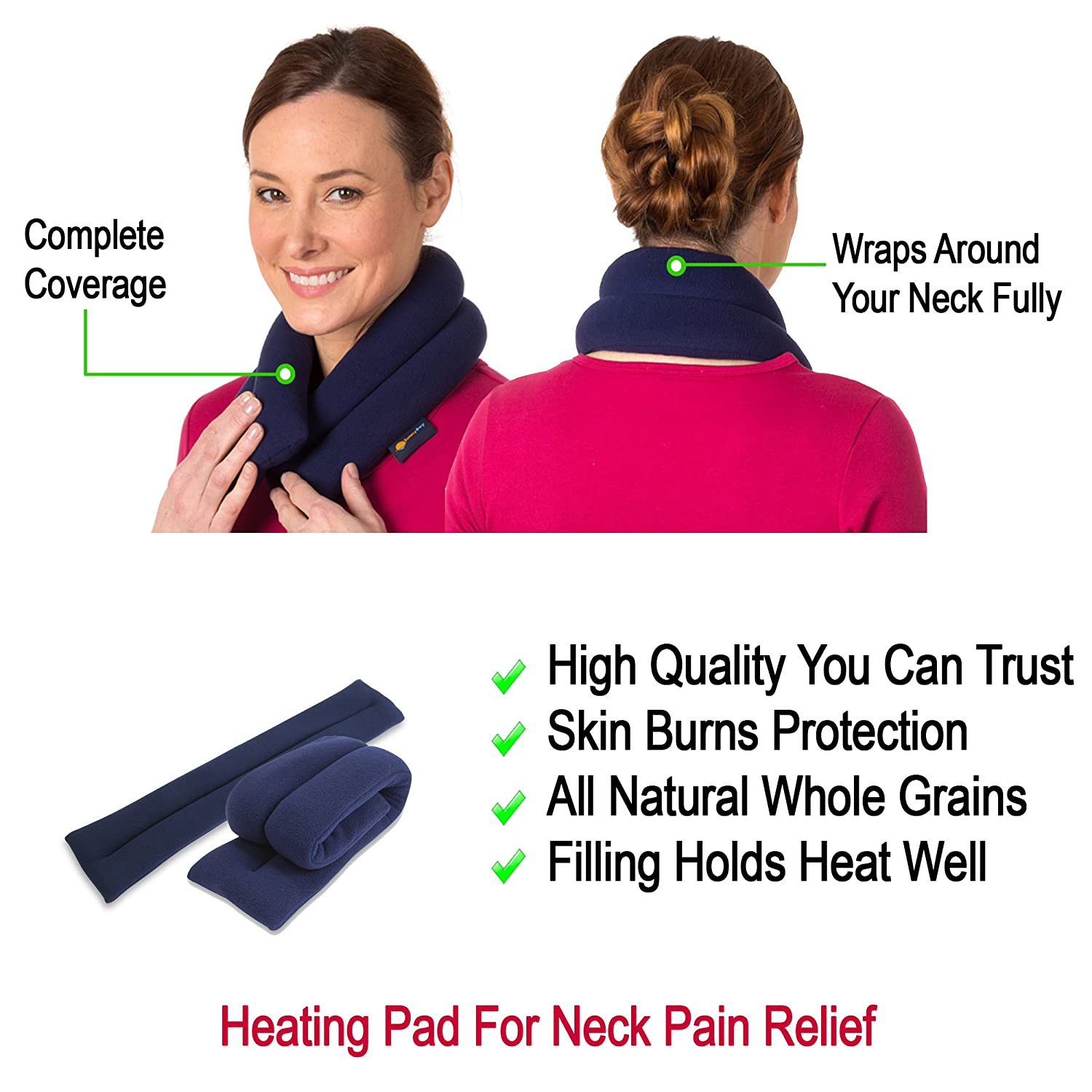 neck pain relief  : Sunny Bay Microwavable Neck Heating Wrap - Bean Bag Heat ...