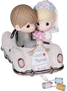 Precious Moments Just Married Bisque Porcelain Figurine 103018