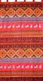 """Indian Print Tab Top Curtain Drape Panel Cotton 44"""" x 88"""" Bright Red"""
