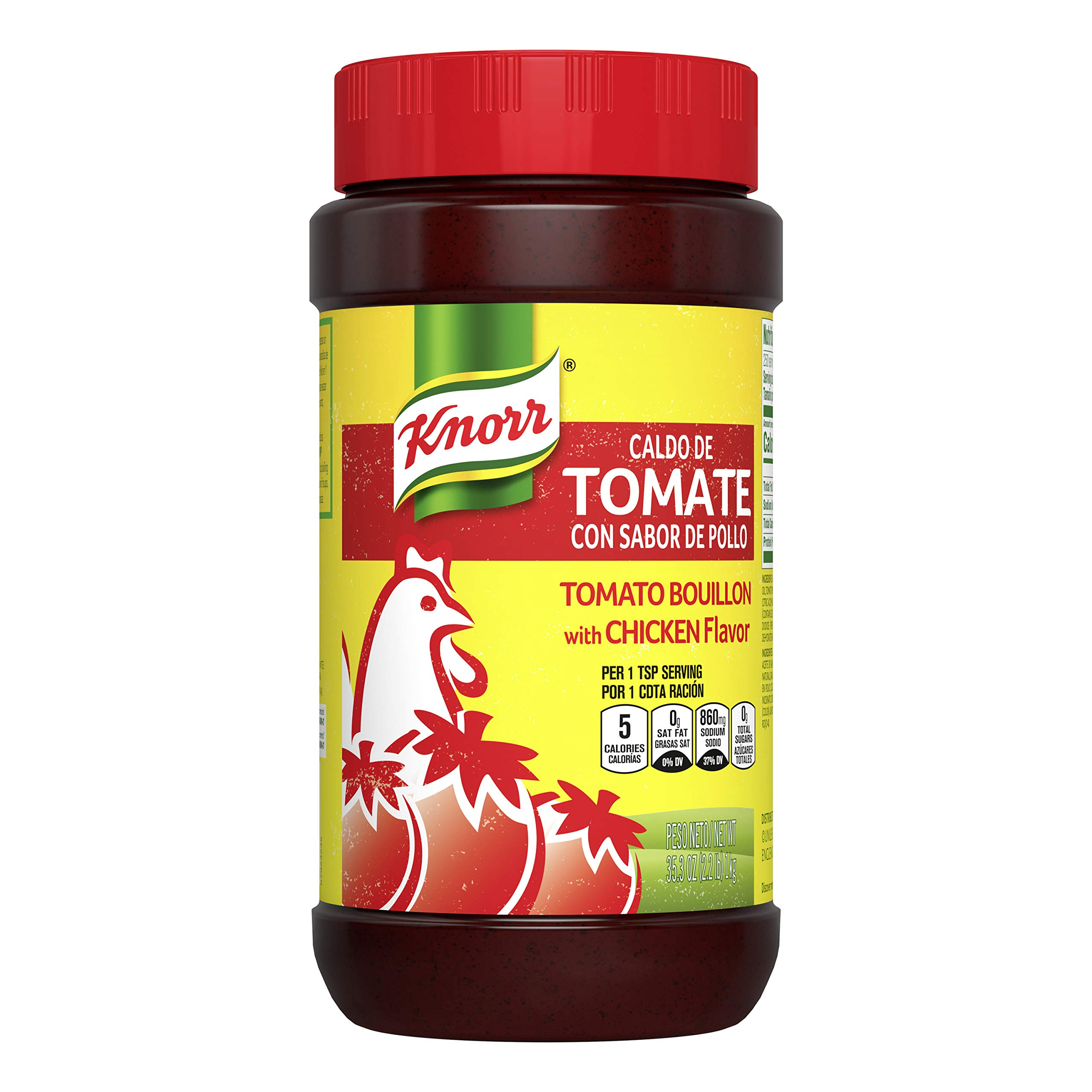Knorr Caldo De Tomate Mexican Tomato and Chicken Bouillon, 35.3-Ounce