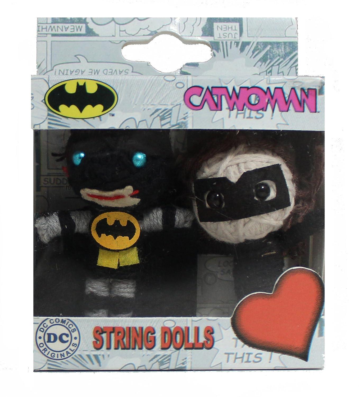 Batman-Catwoman DC Comics Originals String Doll Keychain (2-Pack) C&D Visionary Inc. K-DC-0059-V-S-P