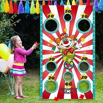 Hobby Creativi Grandi Decorazioni E Fornitori Di Carnevale Blulu Giochi Di Carnevale Toss Con 3 Sacchetto Di Fagioli Divertente Gioco Di Carnevale Per Bambini E Adulti In Attivita Di Festa Di Carnevale
