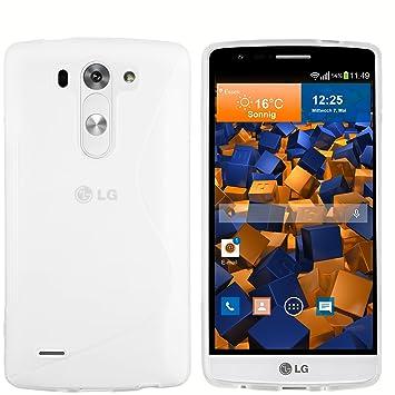 Mumbi S TPU Carcasas LG G3 Blanco Transparente cáscara (no ...