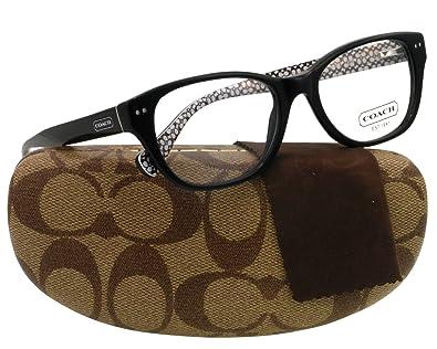 9045f68bfbb9 Amazon.com: Coach Susie Eyeglasses HC6029 5002 Black Demo Lens 51 17 135:  Coach: Shoes