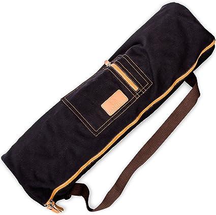Amazon.com : SANUVIA Large Yoga Mat Carrier Bag with Strap ...