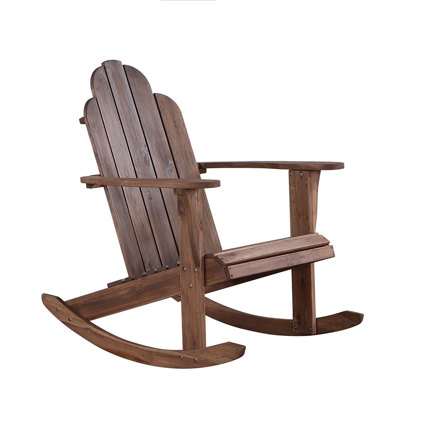 Amazon Linon Woodstock Rocking Chair Teak Kitchen & Dining
