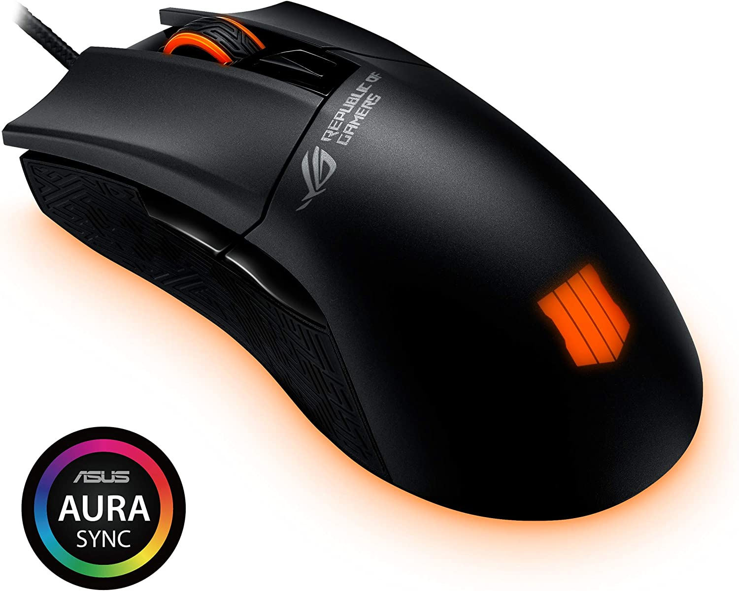 ASUS Optical Gaming Mouse - ROG Gladius II Origin Call of Duty: Black Ops 4 Edition | Ergonomic Right-handed PC Gaming Mouse for FPS Games | 12000 DPI Optical Sensor | Aura Sync RGB, Armoury II