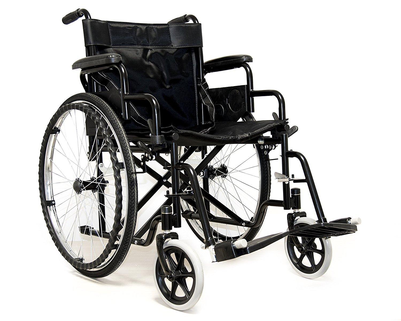 Carrozzina sedia a rotelle ad autospinta per anziani e disabili