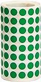 Apli 4854 - Rollo de pegatinas redondas, 10.5 mm, color verde