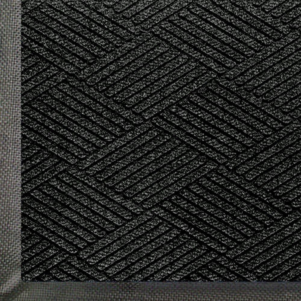 WaterHog Eco Commercial Grade Entrance Mat Indoor Outdoor Black Smoke Floor Mat 5' Length x 3' Width Black Smoke by M A Matting