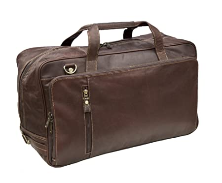 3fd4755c0e49 Prime Hide Luxury Brown Leather Holdall Travel Bag  Amazon.co.uk  Luggage