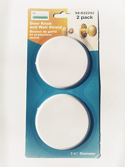 2 Pack Round Strong Door Knob and Wall Cover Shield Drywall Repair ...