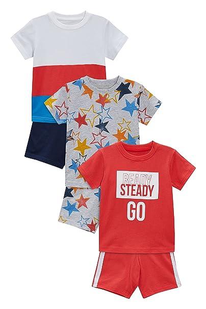 next Niños Pack De Tres Pijamas con Estrellas/Eslogan (9 Meses - 8 Años) 7-8 años: Amazon.es: Ropa y accesorios