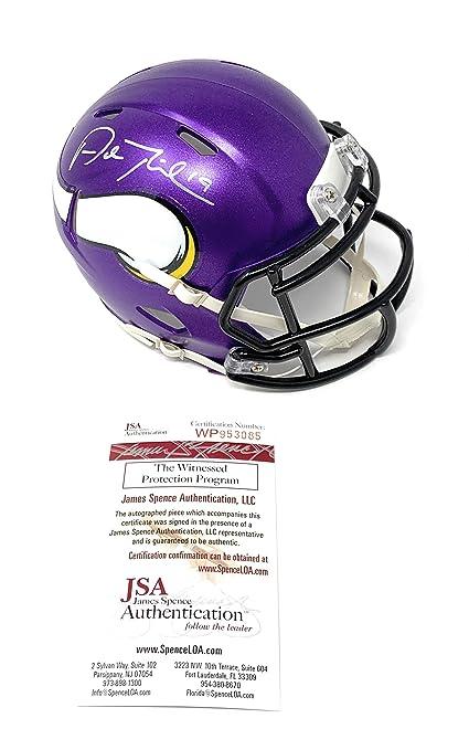 72e646da1da Adam Thielen Minnesota Vikings Signed Autograph Speed Mini Helmet JSA  Witnessed Certified