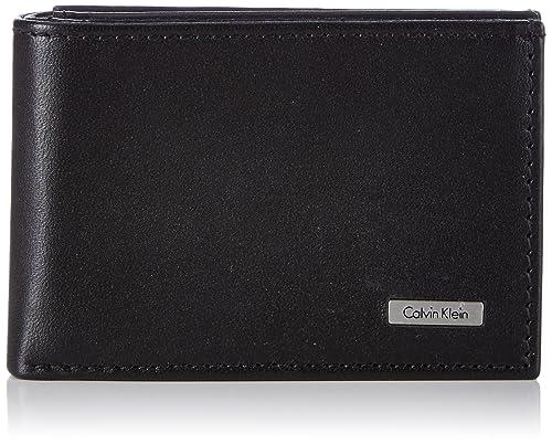 Calvin Klein Jeans Rail Mini 6CC + Coin - Monedero de Cuero Hombre