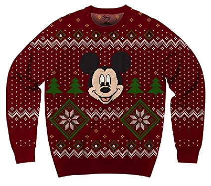 mens disney mickey mouse ugly sweater christmas sweatshirt small