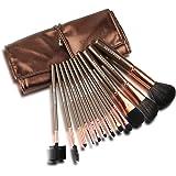 BROADCARE 12 Pennelli Make Up Kit Pennelli Cosmetici Trucco Spazzola Professionale Make Up Set con Borsetta da Viaggio