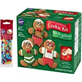 Gingerbread Cookie Kit - Christmas Fun Decorating Kit - Includes: 8 Pre-Baked Cookies, Multi-Colored Candies, Fondant, Icing, Decorating Bag & Tip -Bundled With Extra Candy!