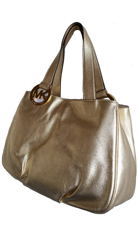 amazon com michael kors leather fulton large ew tote shoulder bag rh amazon com