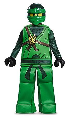 LEGO - Disfraz Ninjago Jay Prestige para niños, Talla Mediana, Edad 7 a 8 años, Altura 1,26 m - 1,35 m