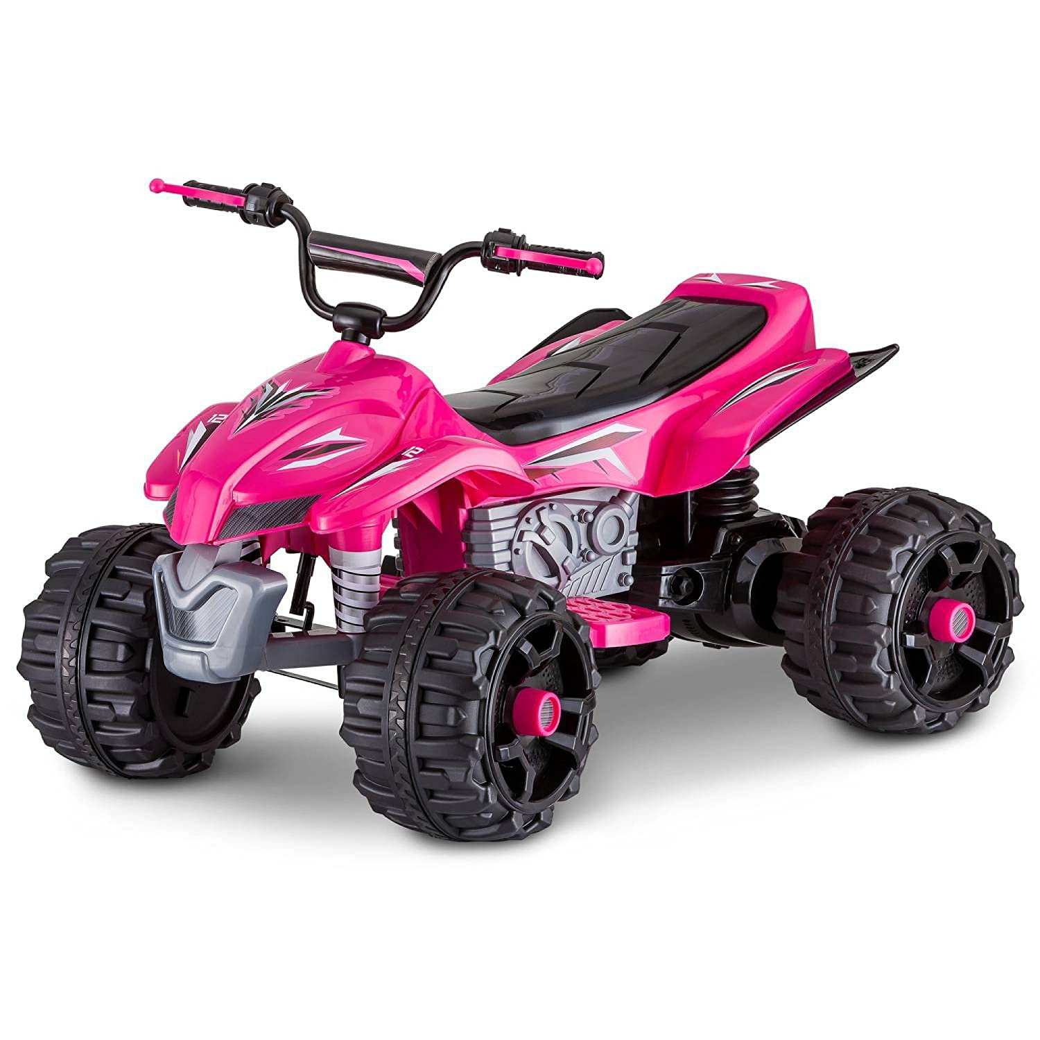 amazoncom sport atv kt1166wmb 12v rechargeable battery powered ride ontop speed of 25 mph pink toys games