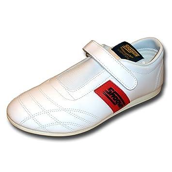 SHOGUN chaussures en cuir souple de Taekwondo - livraison gratuite, taille 40, blanche