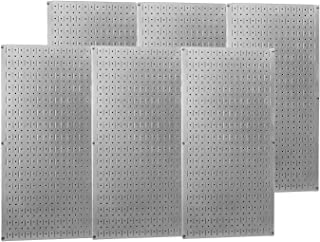 product image for Wall Control - 35-P-3296GV - Steel Pegboard Panel with 1200 lb. Load Capacity, 32H x 96W, Silver, 1 EA