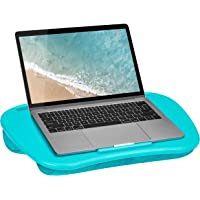 LapGear Mydesk Lap Desk with Device Ledge and Phone Holder - Turquoise - Fits Up to 15.6 Inch Laptops - Style No. 44449