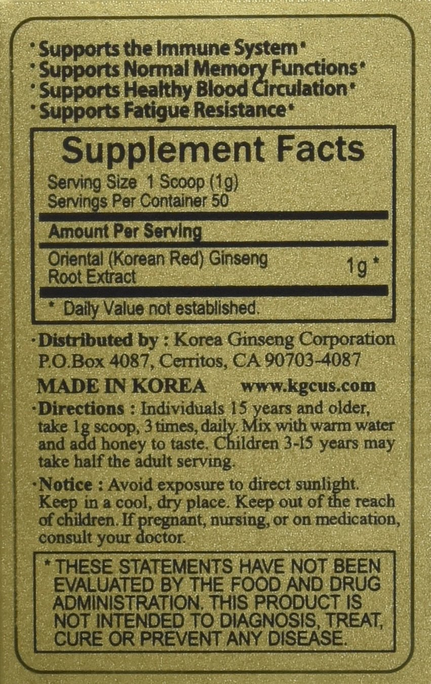 Amazon KGC Ginseng Extract 30 Gram Health Personal Care