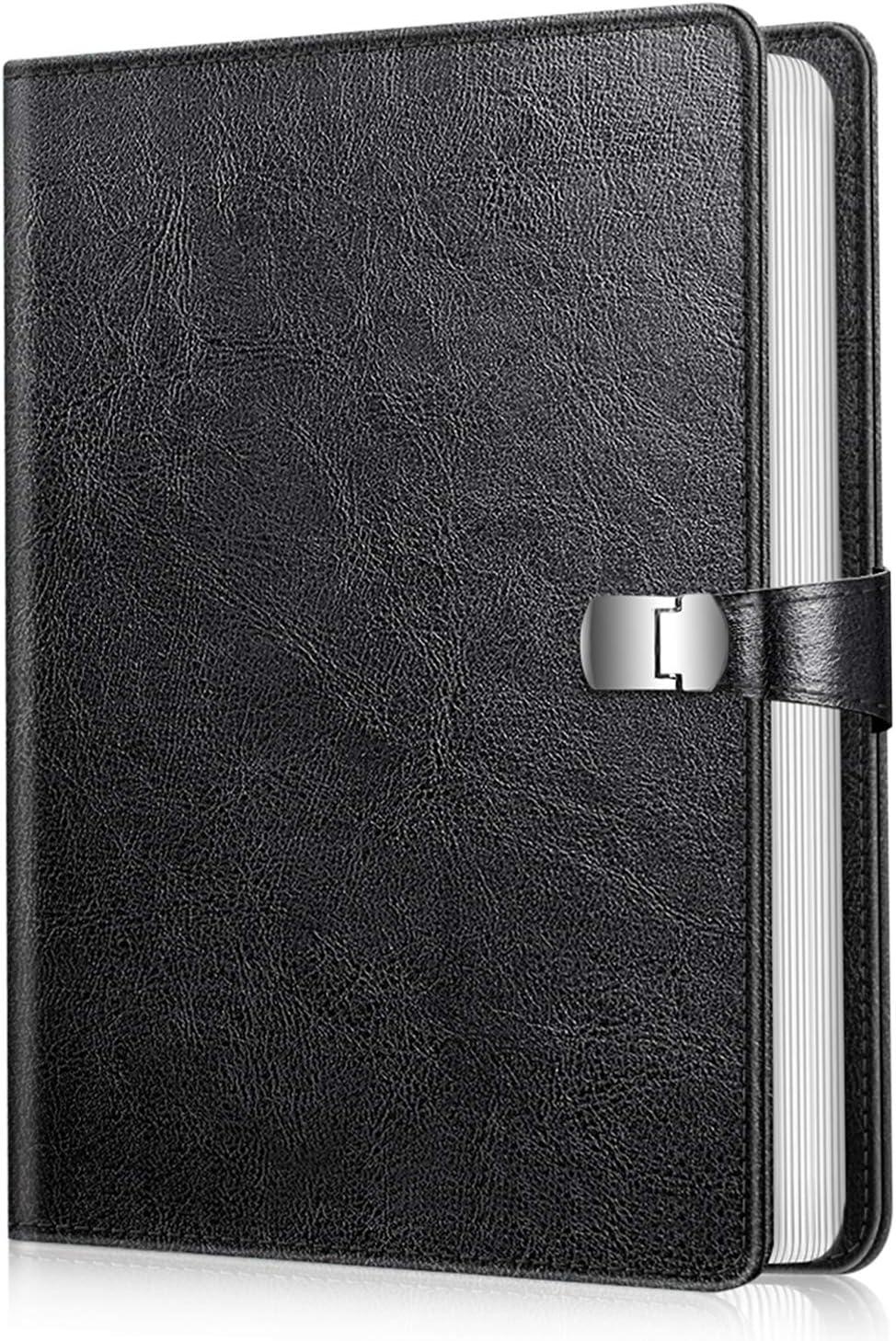 Fintie Photo Album 4x6 Photos - 112 Photos Premium Vegan Leather Cover with Snap Fastener, Portable Wallet Photo Albums (Black)
