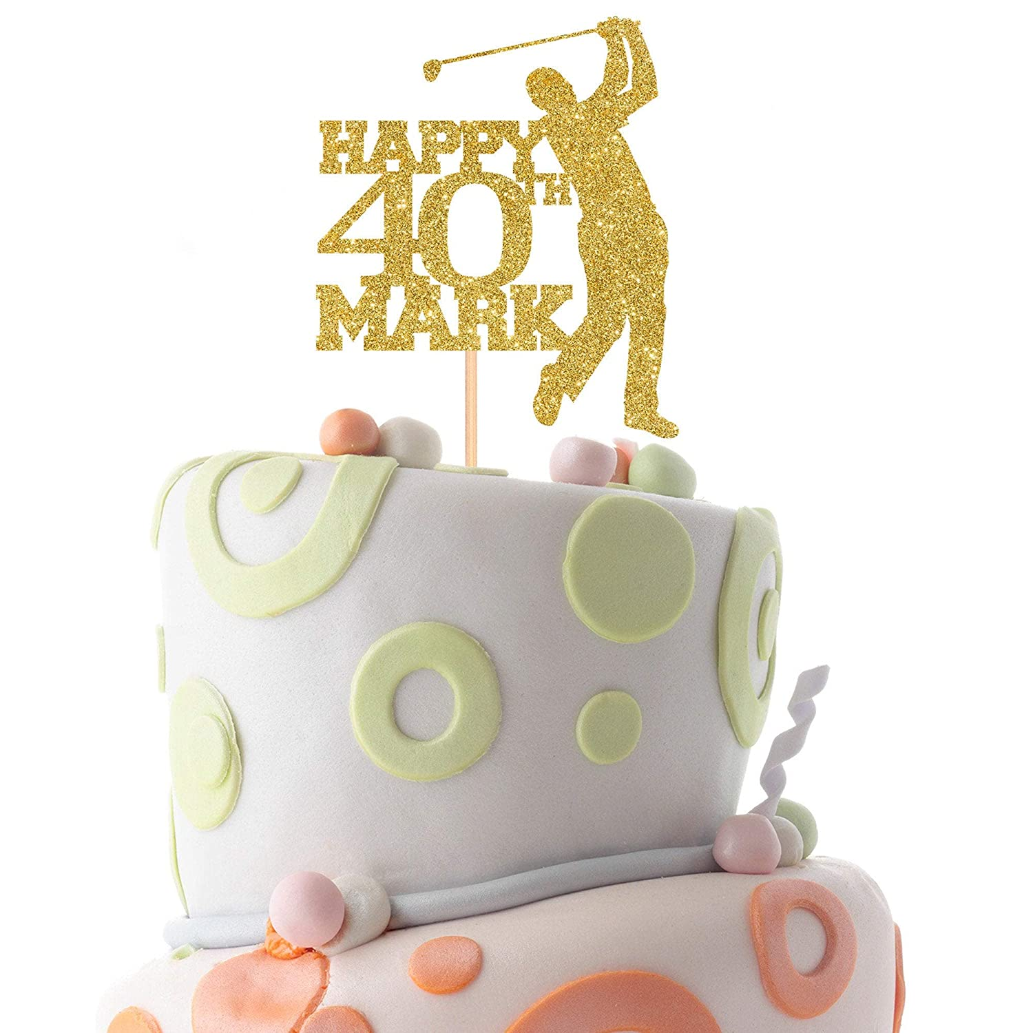 Awe Inspiring Amazon Com Personalised Golf Birthday Cake Topper With Name And Funny Birthday Cards Online Aeocydamsfinfo