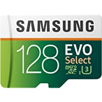 $20 » Samsung EVO Select 128GB microSDXC UHS-I U3 100MB/s Full HD & 4K UHD Memory Card with…