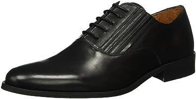 Bianco Dress Panel Shoe JJA16, Chaussures à Lacets Homme, Noir-Schwarz (10