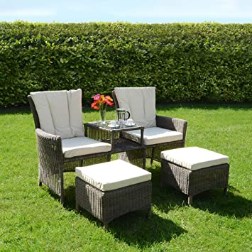 bordeaux 3 pc companion love seat wicker rattan garden patio furniture chairs
