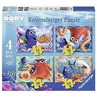 Ravensburger Italy 07399 3 - Puzzle Alla Ricerca di Dory, 4 in a Box