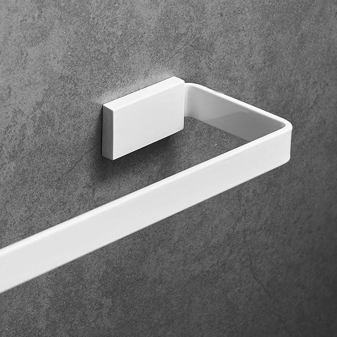 bianco bagno Portasciugamani ad angolo con attacco a parete 40 cm in acciaio inox Leekayer