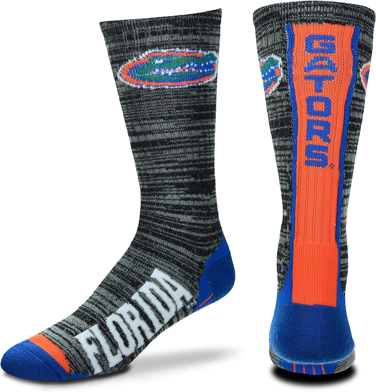 For Bare Feet NCAA Mens Team Vortex RMC Crew Socks-Medium /& Large Sizes