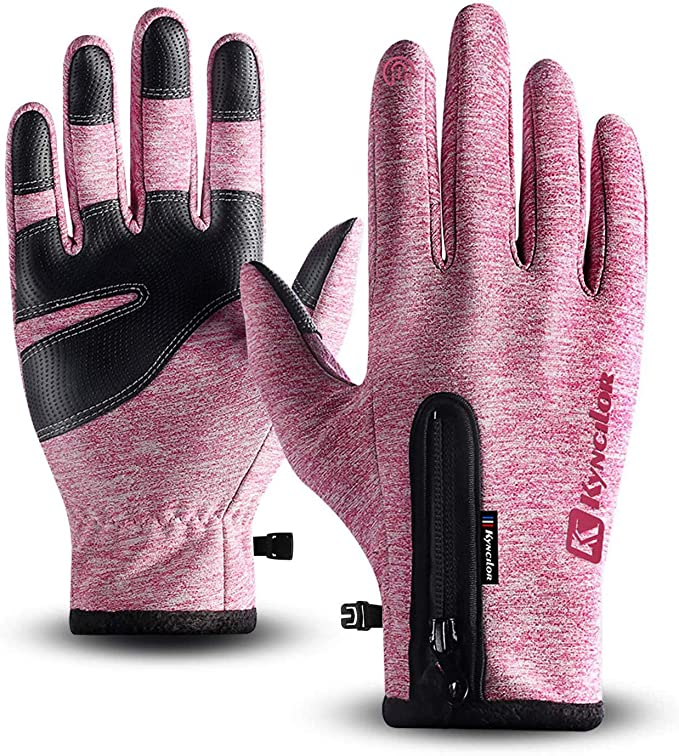 Sports Gloves for Women Men Texting Gloves Waterproof and Warm Winter Gloves with Touch Screen Fingers