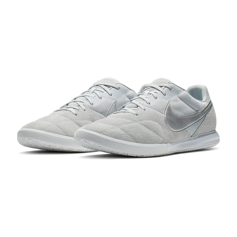 Nike Tiempo Premier II Sala IC Soccer Shoes (Pure Platinum) (Men's 10.5Women's 12)