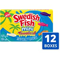 12-Pack Swedish Fish Mini Tropical Fat Free Candy Theater Box
