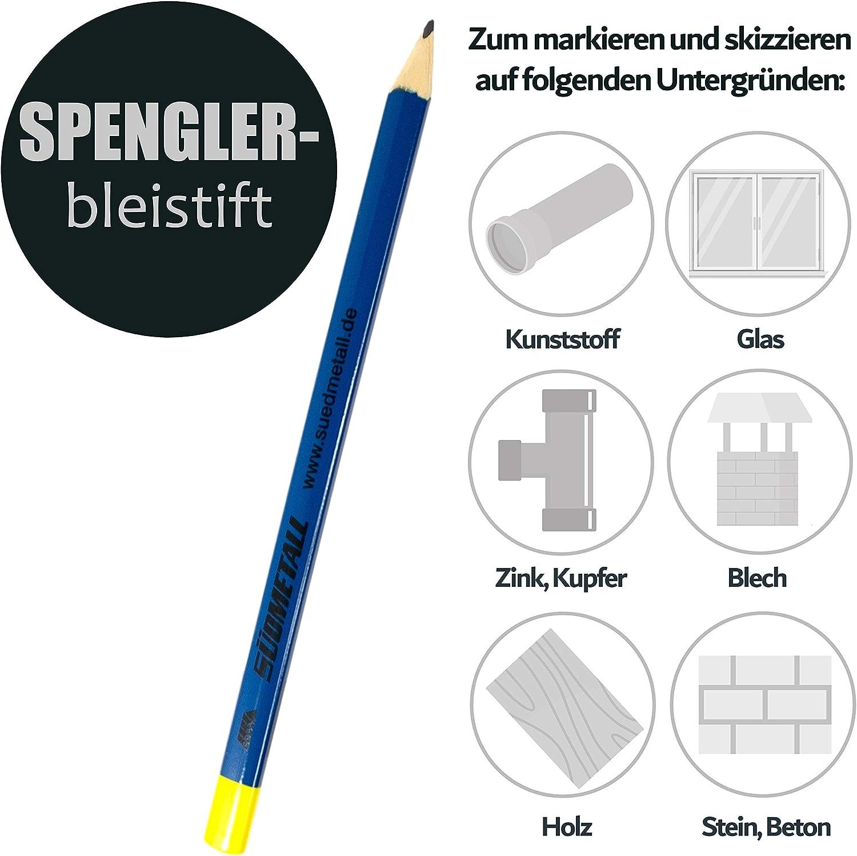Holz Kunststoff Beton Spengler Bleistift im 10er Set Stein Anzeichnen und Skizzieren auf Glas Handwerker Stift f/ür die Baustelle zum Markieren Metall Zimmermanns und Maurer Bleistifte 240 mm