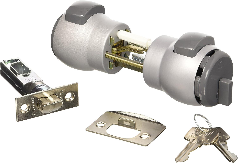 gris//plata Juego de 2 pomos mec/ánicos Nova PremiApri N13NAGR puerta de entrada y oficinas