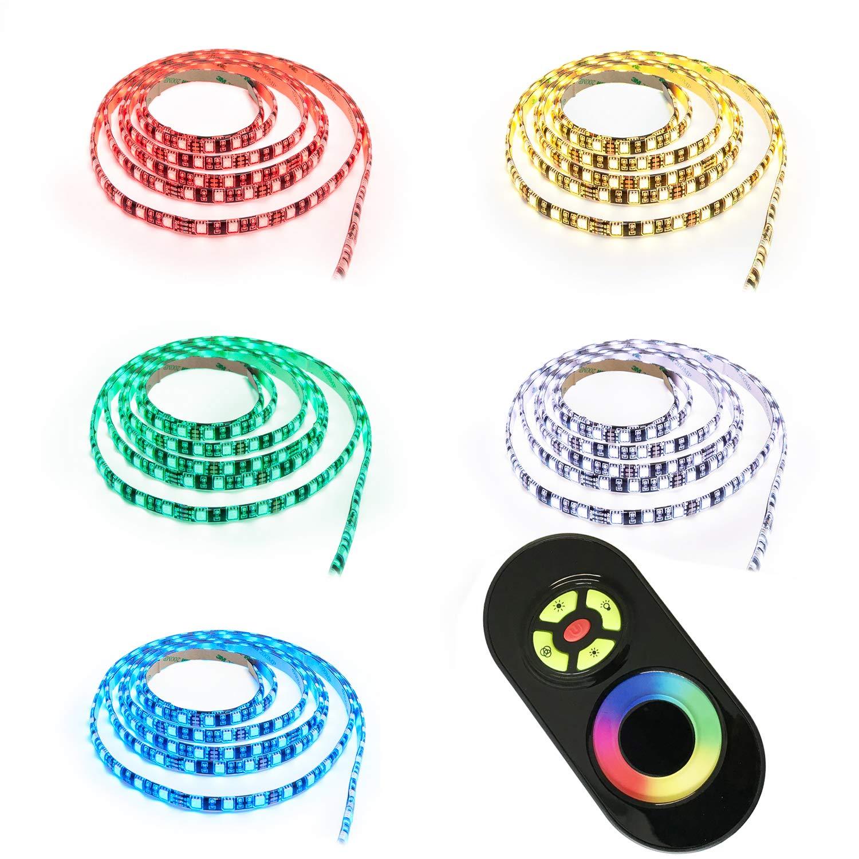 10m LED RGB Strip mit 60x 5050 SMD pro Meter - Komplett Set- Silikonüberzogen - mit Touch Fernbedienung - Mehrfarbig