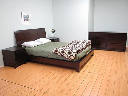 Super Amazon Com Dark Brown Southport Solid Wood Platform Bedroom Download Free Architecture Designs Intelgarnamadebymaigaardcom