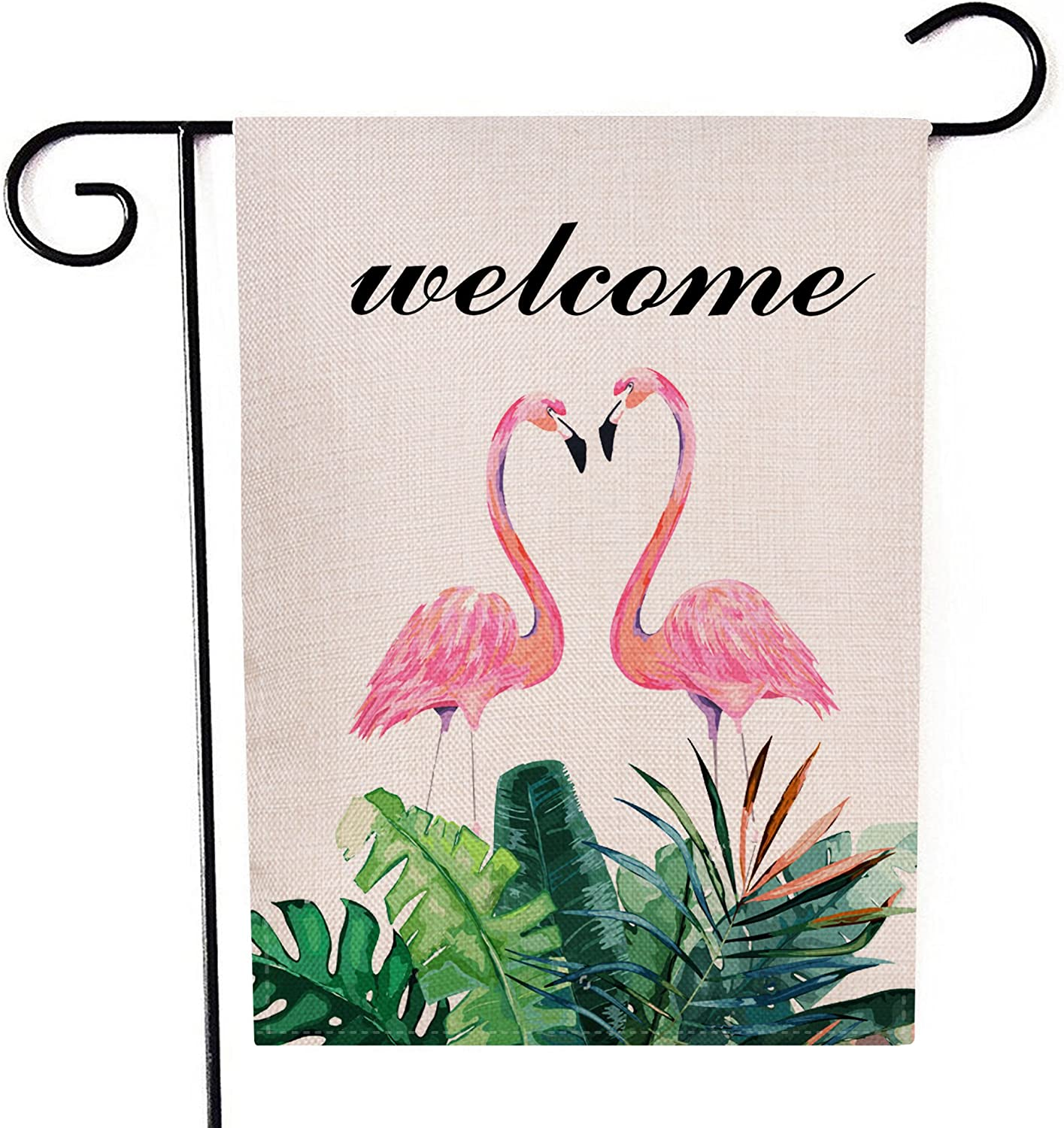Amazon Com Ogiselestyle Welcome Summer Garden Flag Hello